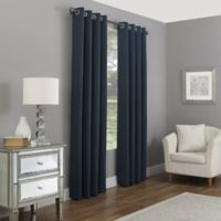Madeira 108-Inch Grommet 100% Blackout Window Curtain Panel in Indigo