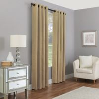 Madeira 108-Inch Grommet 100% Blackout Window Curtain Panel in Gold