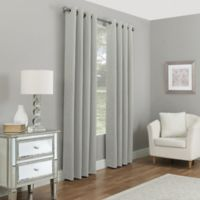 Madeira 108-Inch Grommet 100% Blackout Window Curtain Panel in Steel