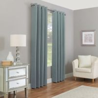 Madeira 108-Inch Grommet 100% Blackout Window Curtain Panel in Spa