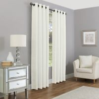 Madeira 84-Inch Grommet 100% Blackout Window Curtain Panel in Pearl