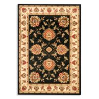 Safavieh Prescott 6-Foot 7-Inch x 9-Foot 6-Inch Room Size Rug in Black/Ivory
