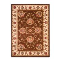 Safavieh Prescott Brown/Ivory 6-Foot 7-Inch x 9-Foot 6-Inch Room Size Rug