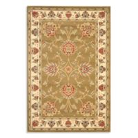Safavieh Prescott Green/Ivory 6-Foot 7-Inch x 9-Foot 6-Inch Room Size Rug