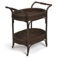 Butler Fiji Rattan Serving Cart in Medium Brown