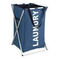 Wenko Uno Laundry Bin in Blue