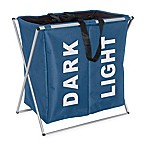 Wenko Duo Laundry Bin in Blue