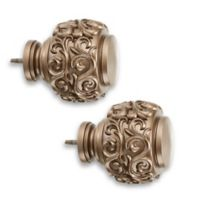 Cambria® Estate Curtain Rod Hardware Collection in Warm Gold
