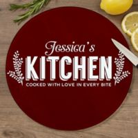 Her Kitchen 12-Inch Round Glass Cutting Board