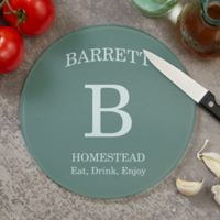 Family Kitchen 8-Inch Round Glass Cutting Board
