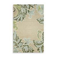 Ornamental Leaf Border 7-Foot 6-Inch x 9-Foot 6-Inch Room Size Rug