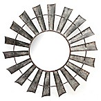 Galvanized Windmill 35-Inch Round Wall Mirror