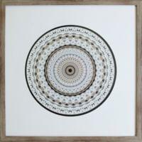 Graphic Mandala Inspired Framed 19-Inch x 19-Inch Shadowbox in Black