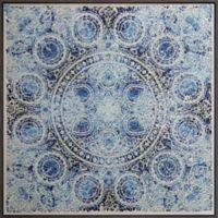 Mosaic Crushed Glass 14-Inch x 14-Inch Framed Wall Art in Blue