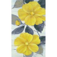 Ivo Ochre Blooms I Muted 18-Inch x 30-Inch Wood Wall Art