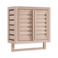 Haven™ No Tools Bamboo Wall Cabinet in White Washed