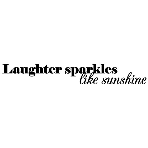Laughter Sparkles Like Sunshine Vinyl Wall Decal Set