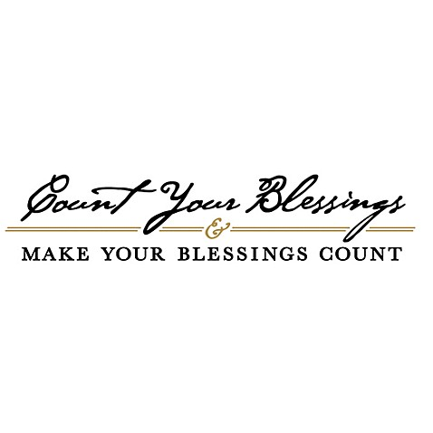 Count Your Blessings And Make Your Blessings Count Vinyl Wall - Vinyl wall decals bed bath and beyond