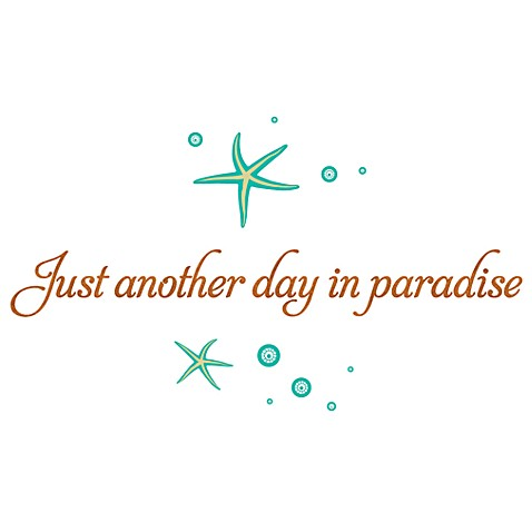 Just Another Day In Paradise Vinyl Wall Decal Set Bed Bath Beyond - Vinyl wall decals bed bath and beyond