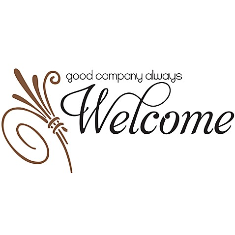 Good Company Always Welcome Vinyl Wall Decal Set Bed Bath  Beyond - Vinyl wall decals bed bath and beyond