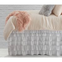 Solid Ruffled Bed Twin/Twin XL Bed Skirt in Light Grey