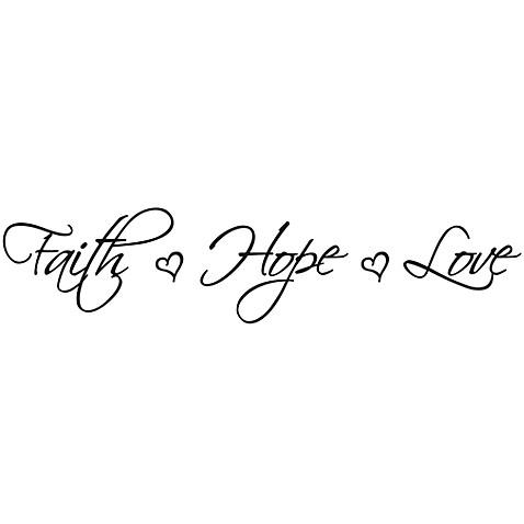 Faith Hope Love Vinyl Wall Decal Set Bed Bath  Beyond - Vinyl wall decals bed bath and beyond