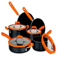 Chopped™ Nonstick Aluminum 10-Piece Cookware Set in Orange