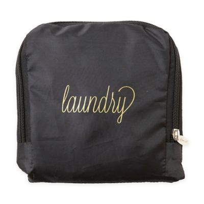 Buy travel laundry bag travel accessories from bed bath beyond miamica gold script laundry travel laundry bag gumiabroncs Choice Image
