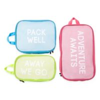 Miamica® Adventure Awaits 3-Piece Packing Cube Set in Pink