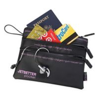 """Miamica® """"Jetsetter"""" Travel Pouch in Black"""