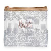 Miamica® Bridal 15-Piece Travel Bottle and Bag Kit in Rose Gold