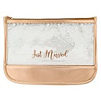 "Miamica® ""Just Married"" Accessory Pouch in Rose Gold"