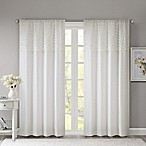 Madison Park Bessie 63-Inch Rod Pocket Window Curtain Panel in White