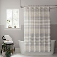 UGGR Lunar Stripe 72 Inch X Shower Curtain In Seal
