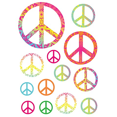 Peace Signs Vinyl Wall Decal Set