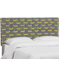 Aubrey King Linen Headboard in Black