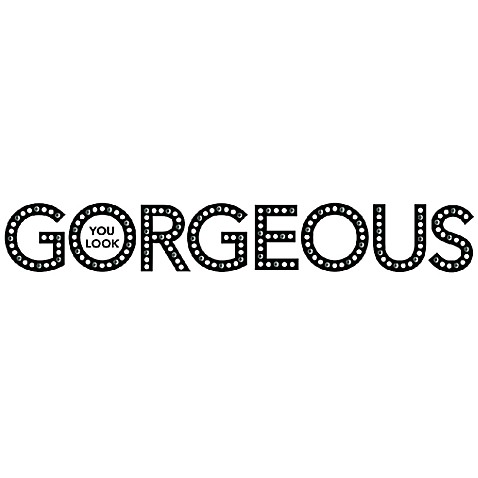 You Look Gorgeous D Vinyl Wall Decal Set Bed Bath Beyond - Vinyl wall decals bed bath and beyond