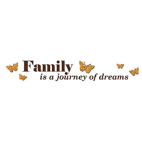 Family is a Journey of Dreams 3-D Vinyl Wall Decal Set