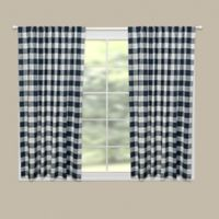 Heritage Lace® Buffalo Check 63-Inch Rod Pocket Window Curtain Panel in Navy