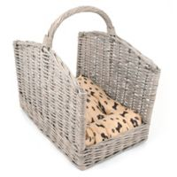 Dog/CatLife Wicker Pet Bed with Handle