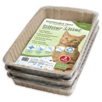 CatLife 3-Pack Pre-Filled Glitter Litter Trays
