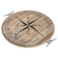 J. K. Adams Co. Lazy Susan with Compass in Ash