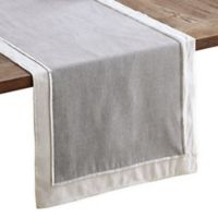 Layered Chambray 90-Inch Table Runner in Grey