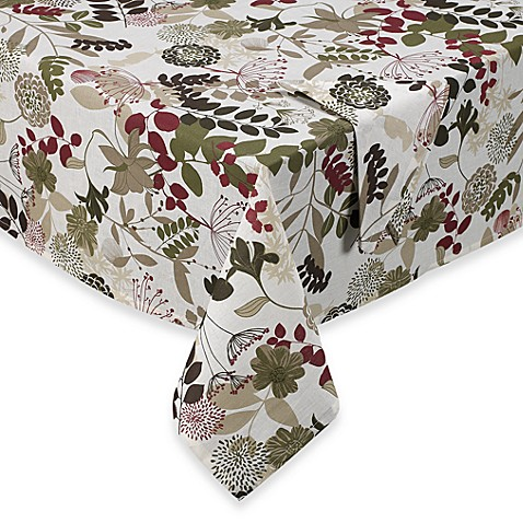 Willow Laminated Tablecloth And Napkins