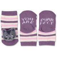 ED Ellen DeGeneres Size 0-6M Cat Rattle Socks in Purple