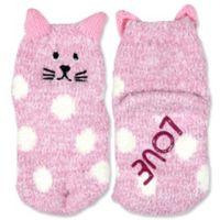 ED Ellen DeGeneres Size 12-24M Cat Cozy Socks in Pink
