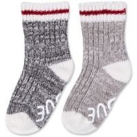 ED Ellen DeGeneres 12-24M 2-Pack Marl Crew Socks in Grey