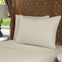Morgan Home Flannel Full Sheet Set in Taupe