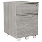 Techni Mobili 2-Drawer Filing Cabinet in Grey