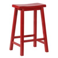 Powell® Saddle Bar Stool in Red